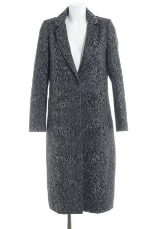 Zara Basic Wollmantel schwarz-weiß meliert Elegant