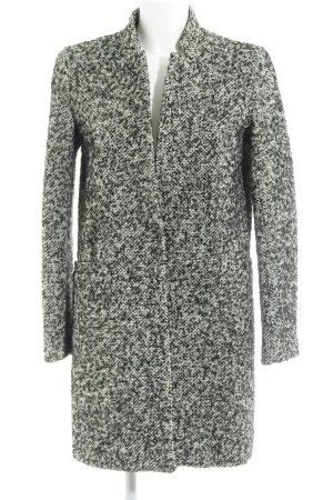 Zara Basic Wollmantel weiß-schwarz schlichter Stil