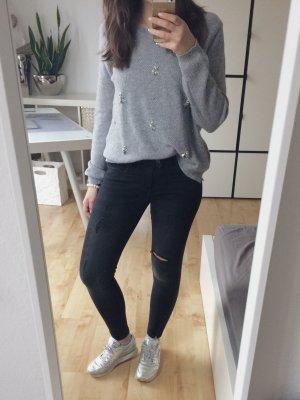 Zara Jeans cigarette noir-gris