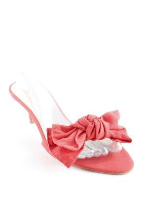 Zara Basic Zehen-Sandaletten hellrot 60ies-Stil