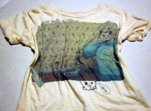 Zara Basic T-shirt veelkleurig Katoen