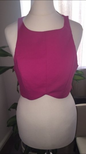 Zara bauchfreies top in pink