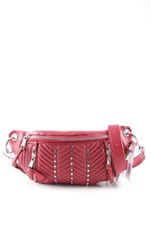 Zara Marsupio rosso motivo trapuntato stile casual