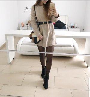 Zara Sweaterjurk licht beige-beige
