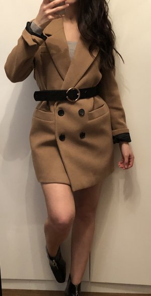 Zara Heavy Pea Coat beige