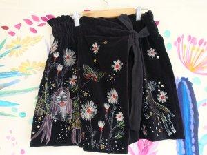 Zara bestickter Hosenrock aus Samt