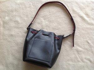 Zara Sac seau noir faux cuir