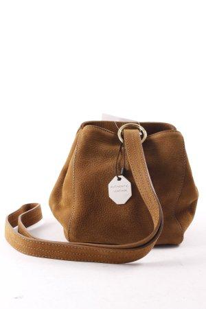 Zara Bolso tipo marsupio marrón claro