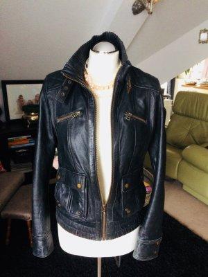 Zara Biker Jacke Lederjacke Größe M 38 schwarz grau