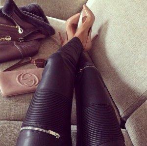 Zara Pantalon noir-argenté