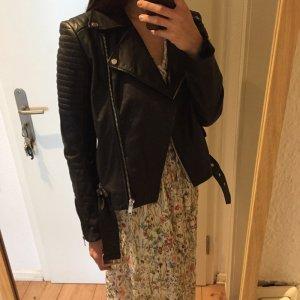 Zara Veste en cuir noir