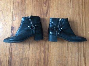 Zara Biker Stiefeletten Boots Echtleder Leder 37 36 Blogger