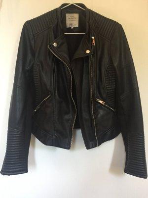 Zara Veste motard noir-argenté