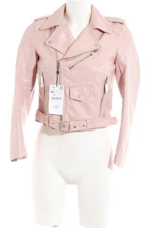 Zara Bikerjacke rosa-pink Biker-Look