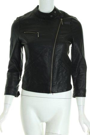 Zara Bikerjacke schwarz Leder-Optik
