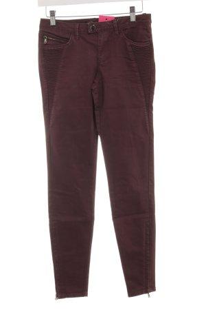 Zara Biker jeans braambesrood Logo applicatie