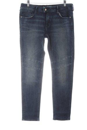 Zara Biker jeans blauw casual uitstraling