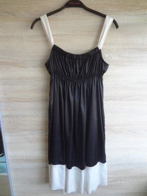 ZARA black white Kleid babydoll locker fließend M