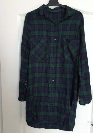 Zara blau-grün kariertes Hemdkleid