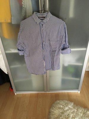 ZARA blau weiß gestreiftes Hemd Bluse in M