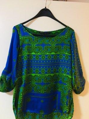 Zara Camicia fantasia blu-verde