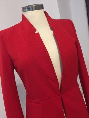 Zara Blazer largo rojo oscuro