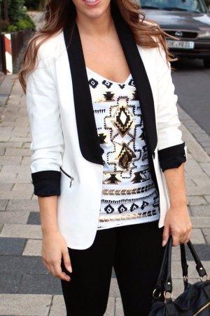 Zara Blazer black and white