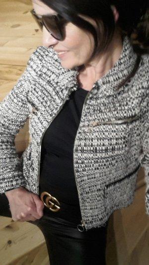 Zara Woman Blazer in lana multicolore Tessuto misto