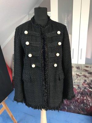 Zara Tweed blazer zwart-wit
