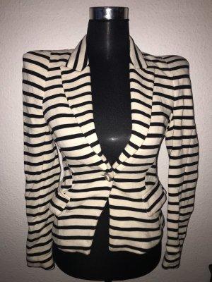 Zara Jersey Blazer blanco-negro
