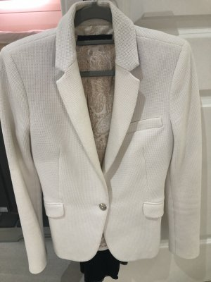 Zara Knitted Blazer white