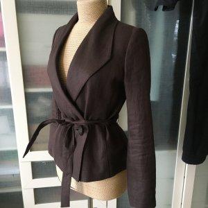 Zara Wool Blazer dark brown