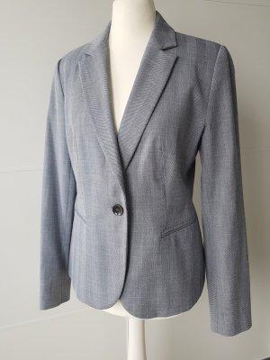 ZARA Blazer, Gr.38, blau/grau, leicht tailliert