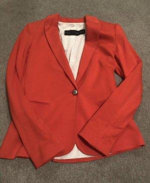 Zara Blazer de tela de sudadera rojo-rojo claro Viscosa