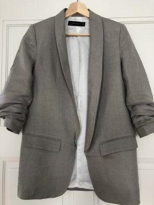Zara Blazer long gris clair-gris