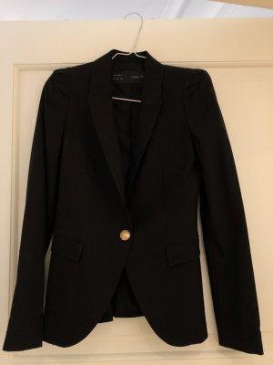 Zara Tuxedo Blazer black-gold-colored