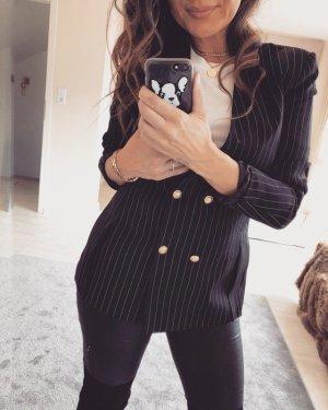 Zara Blazer stile Boyfriend nero-bianco