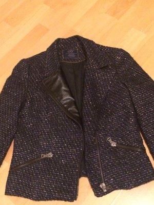Zara Blazer Jacke dunkel blau gold Chanel style,total in Größe M 38