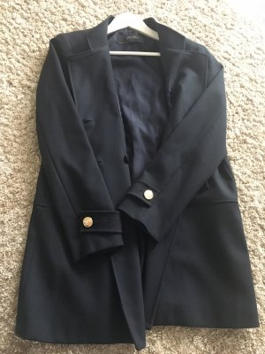Zara Long Jacket dark blue