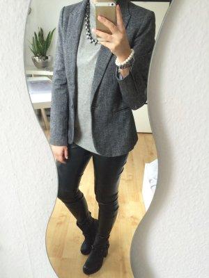 Zara Blazer Jacke grau schwarz