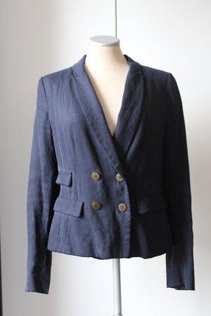 Zara Blazer Kostümjäckchen Gr. M  EUR 38 UK 10 modisch retro Büro business blau