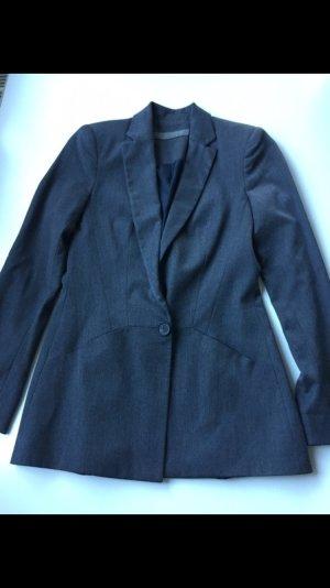 ZARA Blazer, Longblazer, grau, Gr.: 34/XS