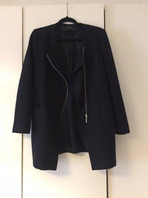 Zara Blazer Mantel in dunkelblau
