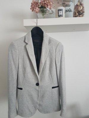 Zara Blazer noir-gris clair coton