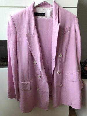 Zara Traje de pantalón rosa