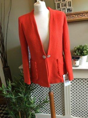 Zara Tweed Blazer multicolored mixture fibre