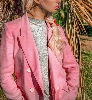 Zara Blazer largo rosa claro