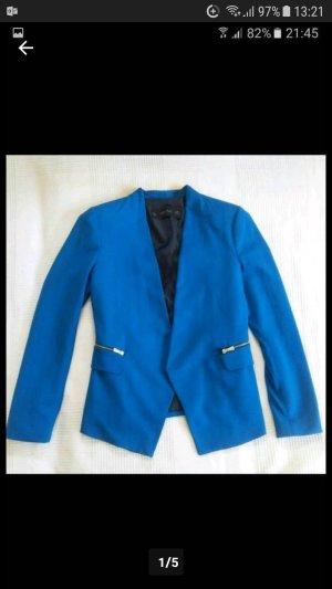 Zara Blazer azul neón