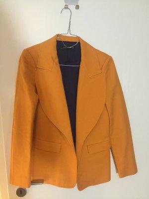 Zara Blazer boyfriend orange doré-jaune foncé tissu mixte
