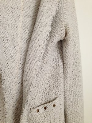 Zara Blazer XS 34 Beige Nude Boucle Tweed Blogger